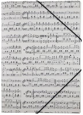 Vienna World Fourre A4 avec élastique, design avec les extraits de la musique de Strauss.