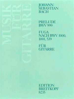 Prélude et fugue B+WV 999/1000 / Bach Jean Sébastien Ansgar Krause / Breitkopf