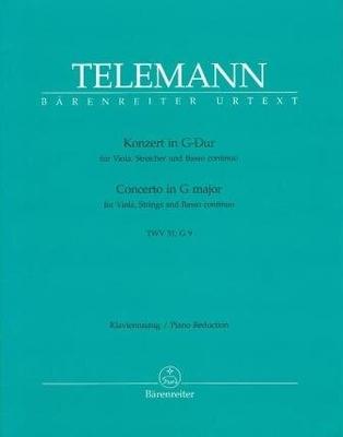 Concerto en sol majeur TWV 51:G9 / Telemann Georg Philip / Bärenreiter