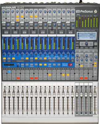 Presonus Studiolive 16.4.2 Digital-Mixer / Interface, 16Ch., 6 Aux, Dynamics, 2xFX, 8x GEQ, FireWire, 19»