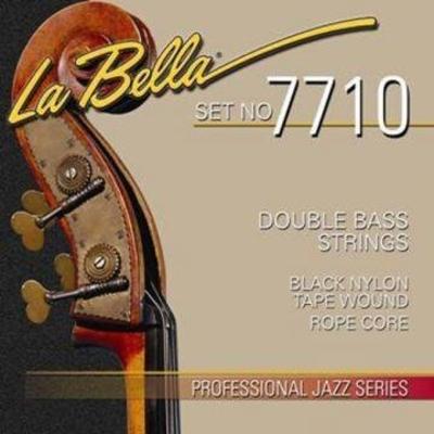 La Bella 7710 Contrebasse »Black Nylon Tape Wound Rope Core» Jeu
