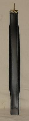 Fuselli Courroie main gauche velours cuir  6/55 cm, noire