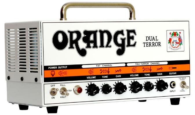 Orange Dual Terror Head 30/15/7 Watt Class A Dual Channel