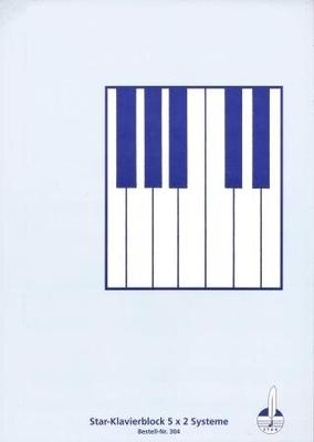 Bloc à 5 x 2 portées, piano /  / STAR Notenschreibpapiere