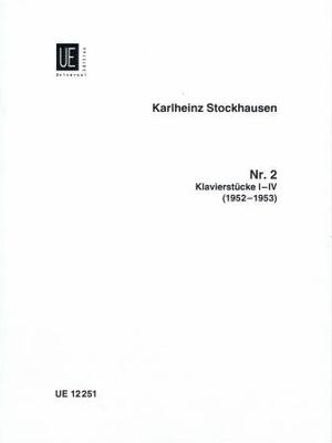 Klavierstücke no 1-4 / Stockhausen Karl Heinz / Universal Edition