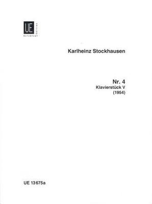 Klavierstück no 4 / Stockhausen Karl Heinz / Universal Edition