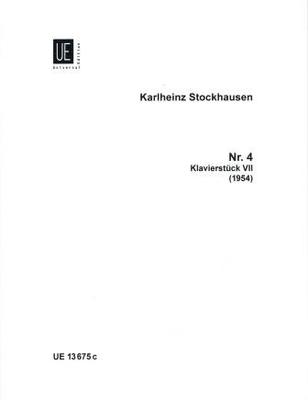 Klavierstück no 7 / Stockhausen Karl Heinz / Universal Edition