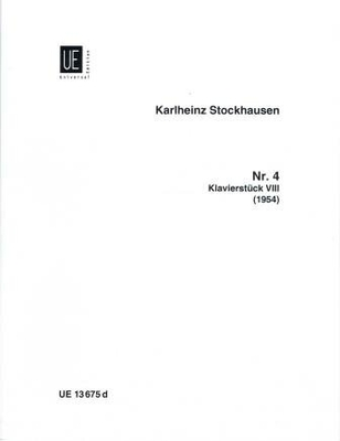 Klavierstück no 8 / Stockhausen Karl Heinz / Universal Edition