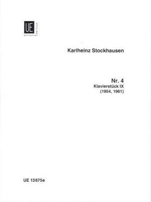 Klavierstück no 9 / Stockhausen Karl Heinz / Universal Edition
