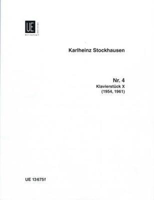 Klavierstück no 10 / Stockhausen Karl Heinz / Universal Edition
