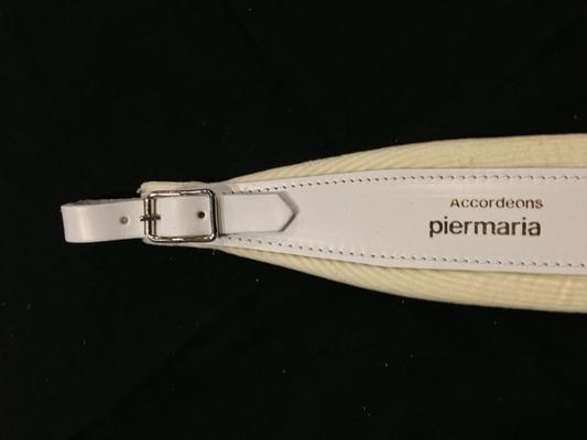 Piermaria Bretelles blanches, avec le nom Piermaria