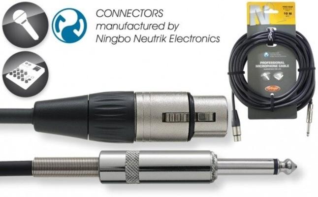 Stagg NMC10XPR XLR Femelle / Jack Mono Mâle 6.3mm, 10m