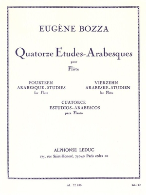14 Etudes-Arabesques / Eugène Bozza / Leduc