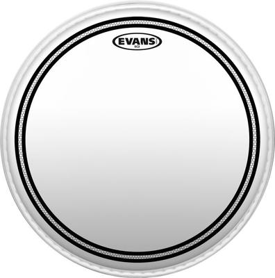 Evans TT10EC2S EC2 Clear SST 10» Tom with edge control ring