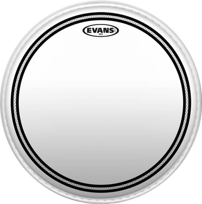 Evans TT12EC2S EC2 SST tom batter with edge control ring double ply clear 12»