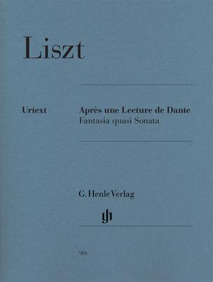 Henle Urtext Editions / Après Une Lecture De Dante – Fantasia Quasi Sonata  F. Lisz  G. Henle Verlag Piano Recueil Henle Urtext Editions / Liszt Franz / Henle