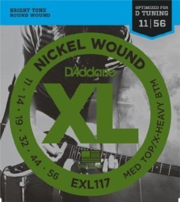 D'Addario EXL117 Nickel Round Wound .011-.056 Medium Top/Extra Heavy Bottom