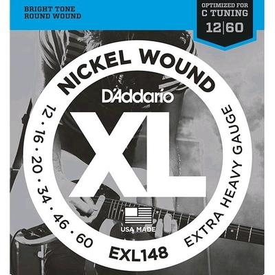 D'Addario EXL148 Nickel Round Wound .012-.060 Extra Heavy