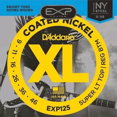 D'Addario EXP125 Coated Nickel Plated Steel .009-.046 Super Light Top / Regular Bottom