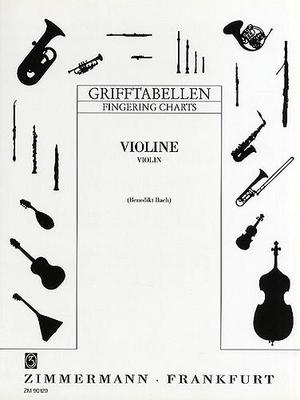 Tableau des doigtés pour violon /  / Zimmermann