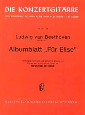Pour Elise (Behrend) / Beethoven Ludwig van / Sikorski