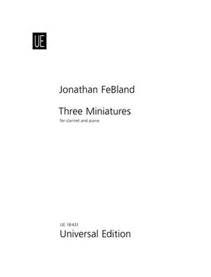 3 miniatures / Febland Jonathan / Universal Edition