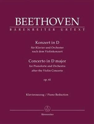 Concerto en ré majeur op. 61 (d'après le concert de violon) / Beethoven Ludwig van Jonathan Del Mar / Bärenreiter