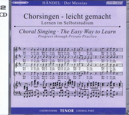 Messie – CD de travail Ténor / Georg Friedrich Händel / Peters
