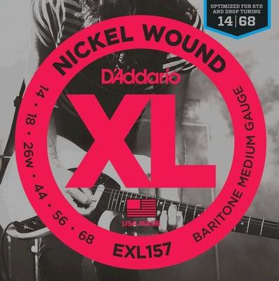 D'Addario EXL157 El. BARITON Round Wound .014-.068 Medium