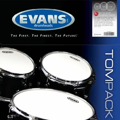 Evans ETP-G1CLR-F G1 Tom Pack 10-12-14 clear
