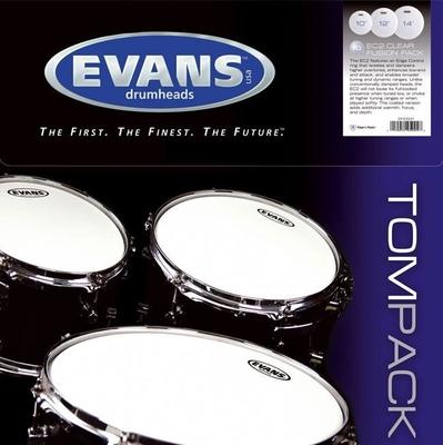 Evans ETP-EC2SCLR-F EC2S Tom Pack 10-12-14 clear
