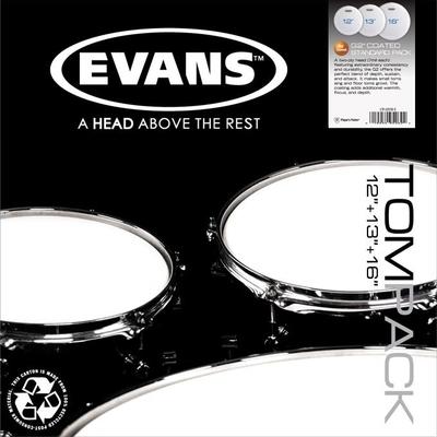 Evans ETP-G2CTD-F G2 Tom Pack 10-12-14 Coated White