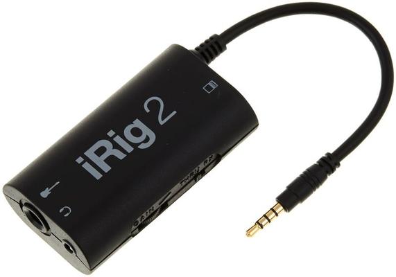 IK Multimedia iRig 2 interface dedicated to iPhone, ipod touch, ipad