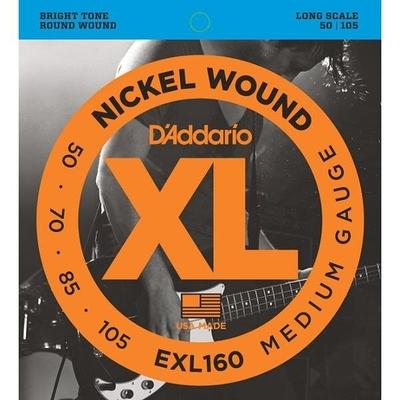 D'Addario EXL160 Nickel Round Wound Long Scale .050-.105 Medium