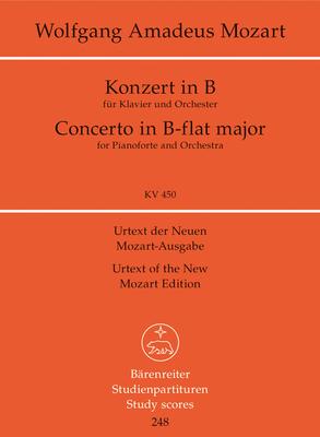 Konzert No 15 B-Dur KV450 / Piano Concerto B flat major KV 450 Concerto for Piano and Orchestra / Wolfgang Amadeus Mozart / Bärenreiter