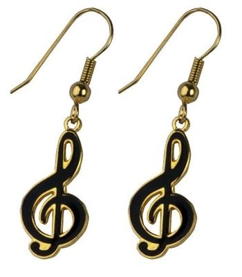 Gewa Boucle d'oreille (la paire de 2)En forme de clef de »Sol»