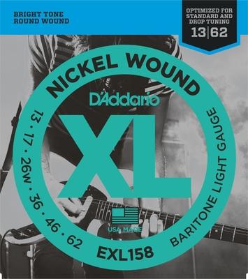 D'Addario EXL158 Baritone / Nickel Round Wound .013-.062 Light
