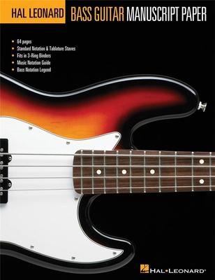 Hal Leonard Bass Guitar Tab Manuscript Paper /  / Hal Leonard