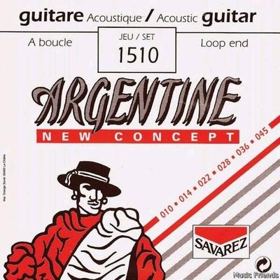Argentine 1510 Acoustic Jazz à boucle Extra Light 010-045