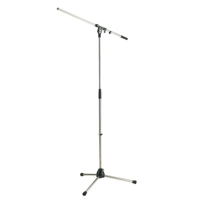 K & M 210/2 Microphone stand – nickel