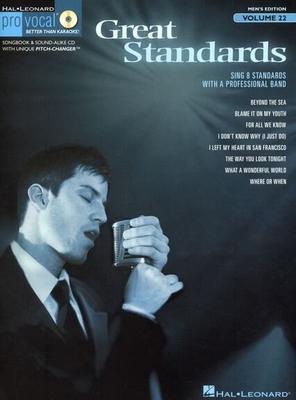Pro Vocal / Great Standards: Pro Vocal Men's Edition Volume 22 /  / Hal Leonard