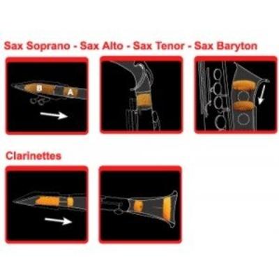 Saxmute Sourdine pour saxophone alto