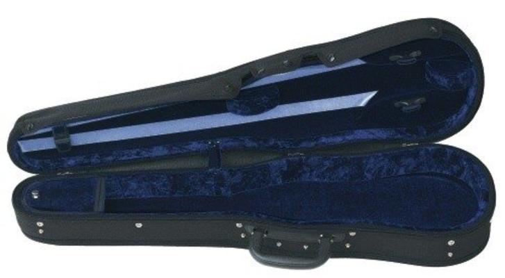 Gewa Etui Violon 3/4 Noir Velours Bleu Liuteria Concerto