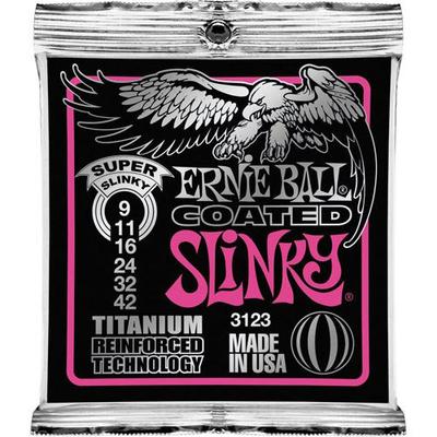 Ernie Ball 3123 Coated Titanium .009-.042 RPS Super Slinky