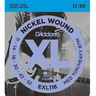 D'Addario EXL116 Nickel Round Wound .011-.052 Medium Top Heavy Bottom