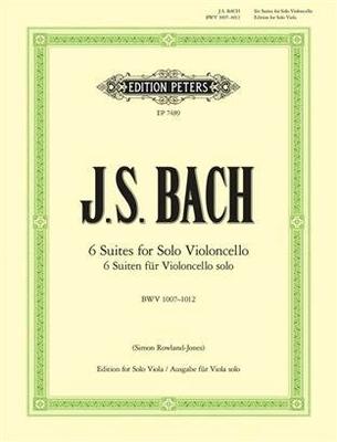 6 Cello Suites BWV 1007-1012 / Johann Sebastian Bach / Peters