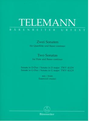 Bärenreiter Urtext / Deux sonates pour flûte traversière et basse continue. Sonate en D-Dur / Sonate eb G-Dur Zwei Sonaten – Two Sonatas for Flute and BC Sonata in D major TWV 41:D9 – Sonata in G major TWV 41:G9 / Georg Philipp Telemann / Bärenreiter