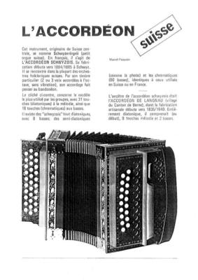 L'accordéon Schwytzerörgeli / Pasquier Marcel / Pasquier