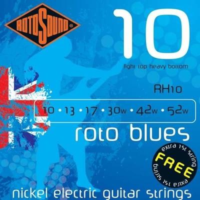 Rotosound RH10 Roto Blues, Nickel Plated .010-.052 R/W Light Top Heavy Bottom