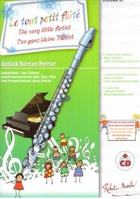 Le Tout Petit Fluté Vol. 1 Cycle 1 – 11 Pièces avec CD inclus Annick Sarrien Perrier / Sarrien-Perrier Annick / Robert Martin